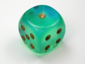 Chessex Borealis Light Green w/Gold16mm d6