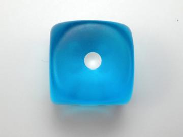 Chessex Borealis Frosted Caribbean Blue w/White 16mm d6