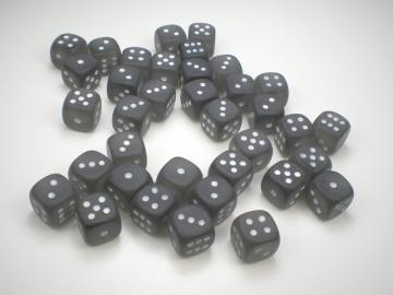 Chessex Borealis Frosted Smoke w/White 12mm d6