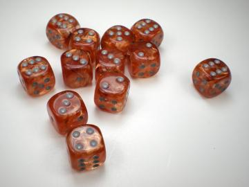 Chessex Leaf Copper w/Steel 16mm d6 Dice