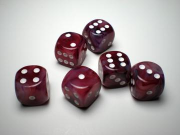 Chessex Phantom Cranberry w/White16mm d6