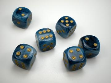 Chessex Phantom Teal w/Gold 16mm d6