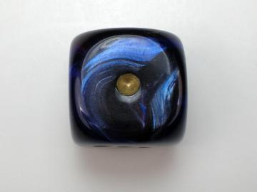 Chessex Scarab Royal Blue w/Gold 16mm d6 Dice