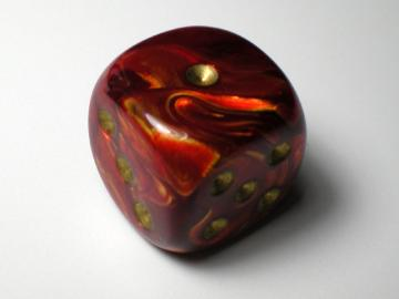 Chessex Scarab Scarlet w/Gold 16mm d6
