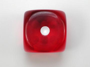 Chessex Translucent Red w/White 16mm d6 Dice