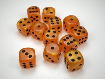 Chessex Velvet Orange w/Black 16mm d6 Dice