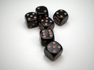 Game Master Brown w/Tan 16mm d6