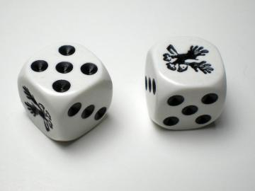 Koplow Games Eagle White w/Black 16mm d6 Dice