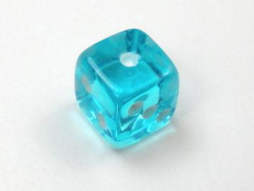 Koplow Games Translucent Light Blue w/White 5mm d6 Dice