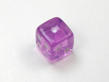 Koplow Games Translucent Light Purple w/White 5mm d6 Dice
