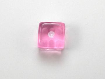 Koplow Games Translucent Pink w/White 5mm d6 Dice