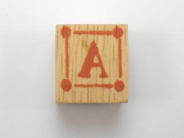Unknown Wood Letter Cubes