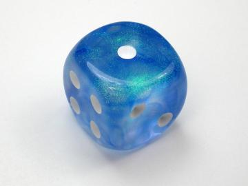 Chessex Borealis Sky Blue w/White 16mm d6