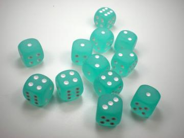 Chessex Borealis Frosted Teal w/White 16mm d6