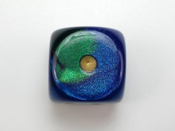 Chessex Gemini Blue-Green w/Gold 16mm d6