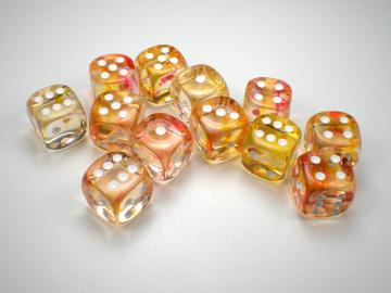 Chessex Nebula Flame w/White 16mm d6 Dice