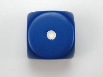 Chessex Opaque Blue w/White 16mm d6 Dice