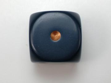 Chessex Opaque Dusty Blue w/Copper 16mm d6 Dice