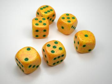 Chessex Speckled Lotus w/Green 16mm d6