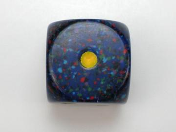 Chessex Speckled Twilight w/Yellow 16mm d6 Dice