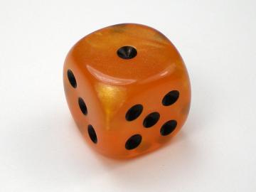 Chessex Velvet Orange w/Black 16mm d6 Dice