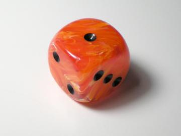 Chessex Vortex Orange w/Black 16mm d6