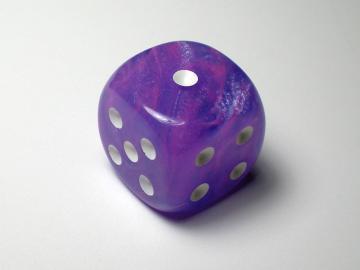 Chessex Wild Purple w/White 16mm d6