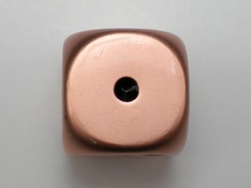 Crystal Caste Dwarven Metal Copper w/Black 16mm d6