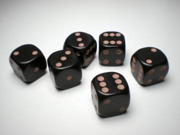 Game Master Brown w/Tan 16mm d6