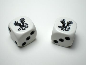 Koplow Games Eagle White w/Black 16mm d6 Dice