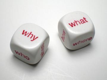 Koplow Games Interrogative White w/Red 16mm d6 Dice