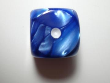 Koplow Games Marble Blue w/White16mm d6 Dice