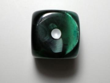 Koplow Games Marble Green w/White16mm d6 Dice