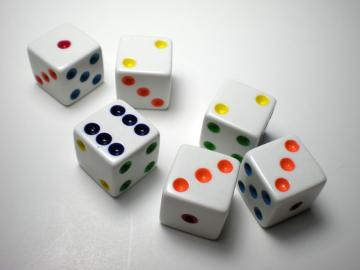 Koplow Games Multi-Colored Spot 16mm d6 Dice