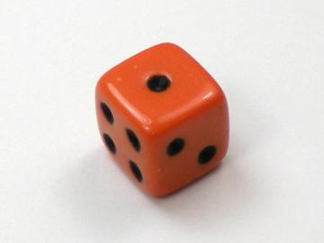 Koplow Games Opaque Orange w/Black 5mm d6 Dice