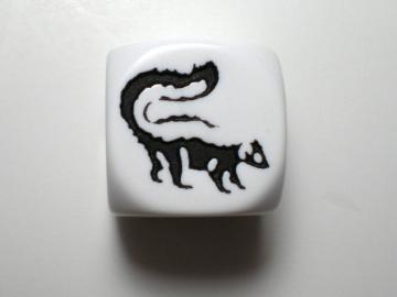 Koplow Games Skunk White w/Black 16mm d6 Dice
