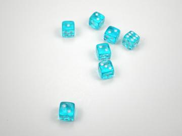 Koplow Games Translucent Light Blue w/White 5mm d6 Dice