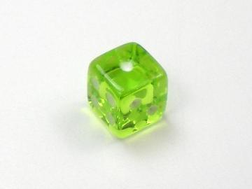 Koplow Games Translucent Light Green w/White 5mm d6 Dice