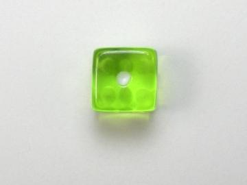 Koplow Games Translucent Light Green w/White 5mm d6 Dice