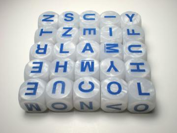 Parker Brothers Boggle Deluxe Letter Cubes